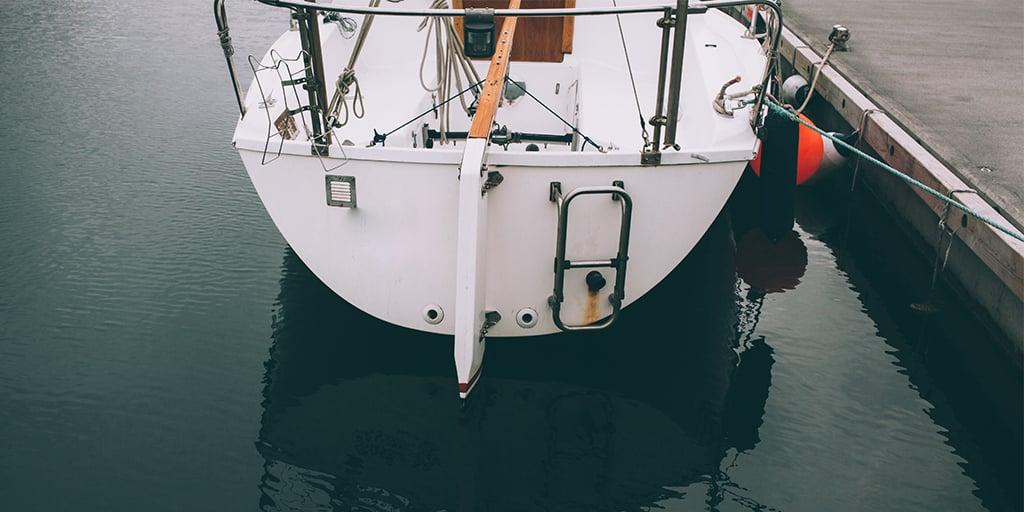 Badestige som utstyr til bår Sensar Marine